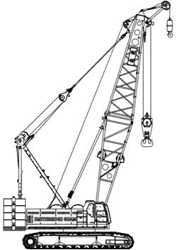 150T Fushun QUY150C Lattice Boom Crawler