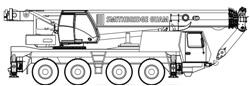 90T Grove GMK4080 All Terrain Hydraulic