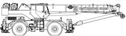 60T Grove RT700E Rough Terrain Hydraulic