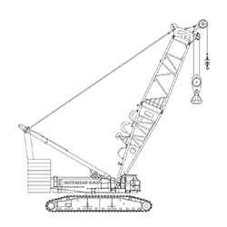 600T Kobelco SL6000 Lattice Boom Crawler